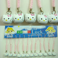 NEW 12 pcs Cell Phone Charm Strap Dangle Figures For Hello Kitty + Charm