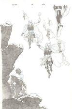 Secret Wars #3 p.20 - Thanos & Thor Corps Splash - 2015 art by Esad Ribic