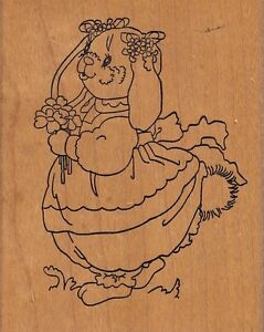 clover-bunny-stamps-happen-Wood-Mounted-Rubber-Stamp-2-1-2-x-3-034-Free-Shipping