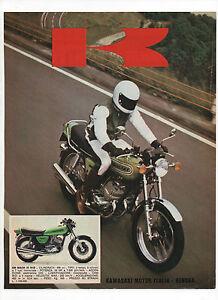 Pubblicita-epoca-1972-MOTO-MOTOR-KAWASAKI-500-MACH-advertising-publicite-werbung