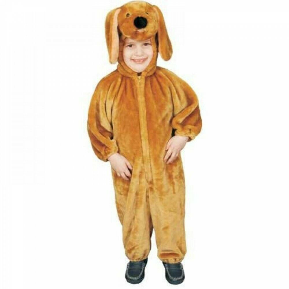 Dress Up America Brown Puppy Plush Costume - Size 0-12 Months