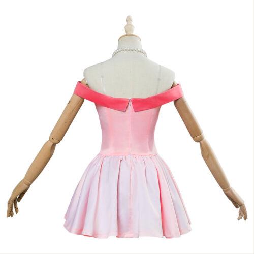 Two Heroes Cosplay OCHACO URARAKA Costume Pink Dress Suit My Hero Academia