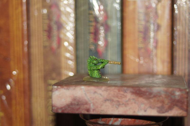 Dwarven Forge Tribal Lizardman Soplete Raro Promo