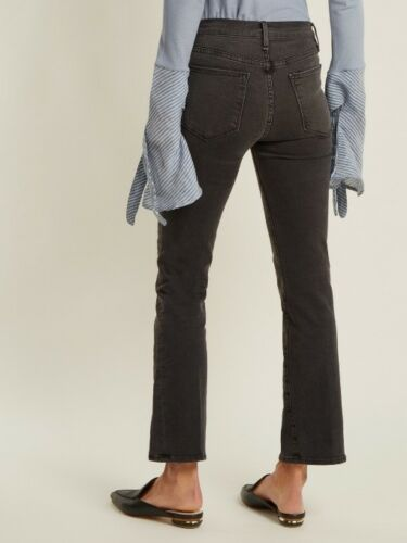 grey woodland s crop jean frame ali high rise skinny stretch denim 24