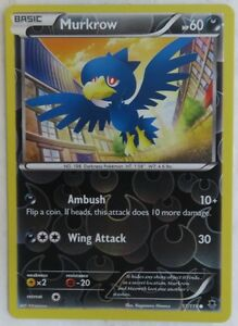 kaartspellen Pokémon POKEMON XY PHANTOM FORCES MURKROW 51/119 REV HOLO