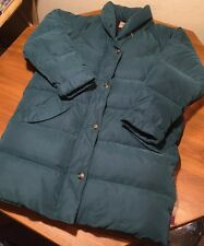 Woolrich Women's Arctic Parka Dark Pine Large L Goose Down THICK WARM Collared