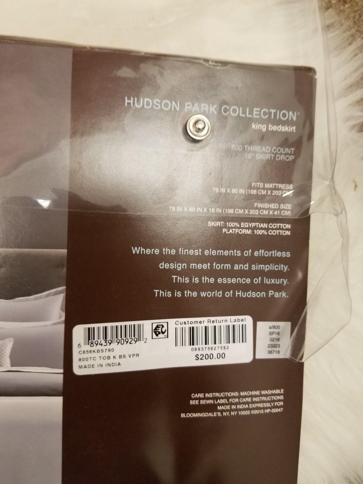 HUDSON PARK COLLECTION KING BEDSKIRT 800TC VAPOR GRAY 100 /% EGYPTIAN COTTON
