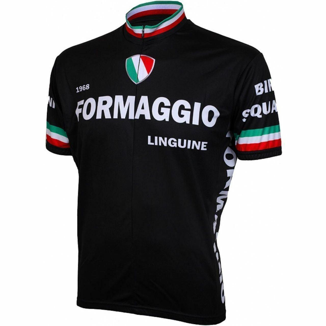 Formaggio 1968 Retro Short sleeve 19 zip uomo cycling jersey