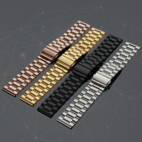Unisex Edelstahl Uhrenarmbänder Gliederarmband Loop für Fitbit Versa 1 2//Lite//SE