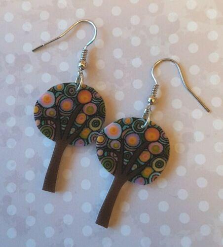 KIZZY Jewellery Quirky FARAWAY TREE resin drop dangly earrings storybook