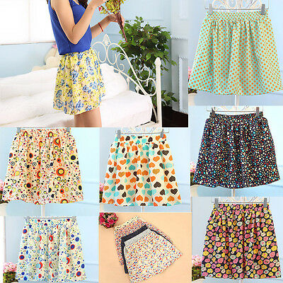 2016 Casual Flower Cute Summer Ladies Pleated Chiffon Mini Floral Skirt