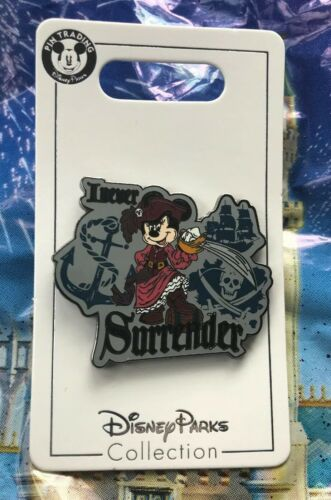 Disney Minnie Mouse I Never Surrender Minnie As Pirate Pin New OE Pin