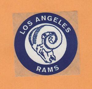 Old Logo 1960 S Los Angeles Rams 3 Inch Kraft Backed Decal Sticker Unused Stock Ebay