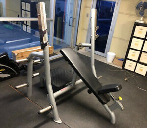 USED-Commercial-Incline-Bench-Press-Machine-WNQ-Gym-Equipment-ASSEMBLED