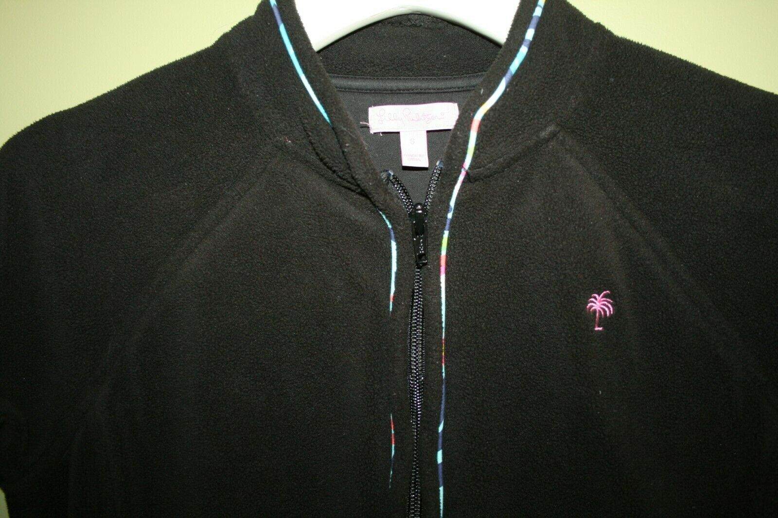 LILLY PULITZER FLEECE JACKET BLACK PRINTED PIPING… - image 3