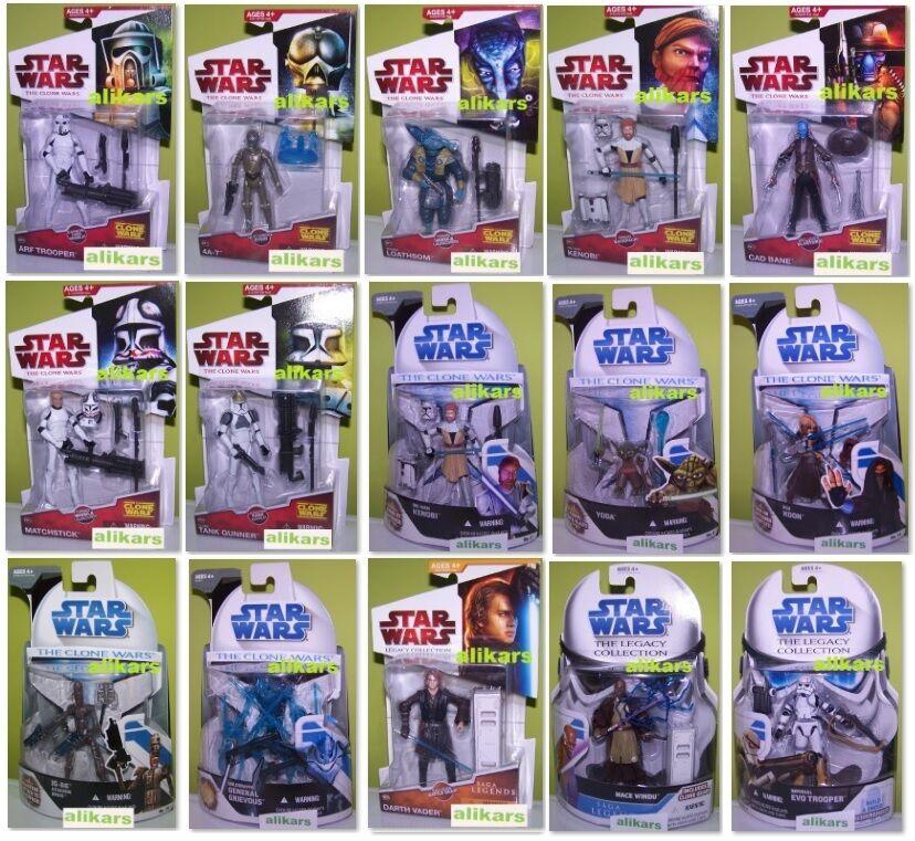 Star Wars Action Figure 3.75  Hasbro New the Clone Wars Saga Legend Collection