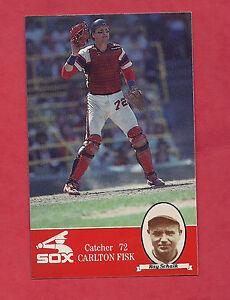 RARE-1985-SOX-CARLTON-FISK-RAY-SCHALK-COCA-COLA-PROMO-CARD