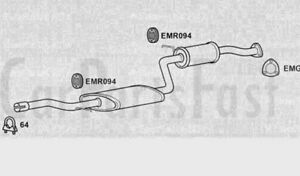 Exhaust-Middle-Box-Volvo-V40-2-0-Petrol-Estate-05-2000-to-02-2001