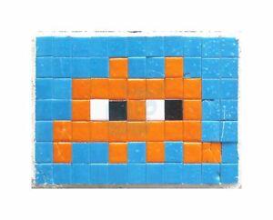 Détails Sur Pixel Art Monster Space Invader Orange Carreaux Art Toile Impression Afficher Le Titre Dorigine