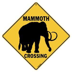 mammoth crossing sign new 12x12 metal woolly prehistoric ebay