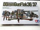 TAMIYA 35017 Military Miniatures 88mm GUN FLAK36/37 & CREW 1:35 New in box