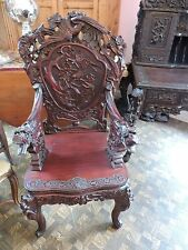 Antique Chinese Rosewood Desk And Chair Handcarved SALE 5900.00