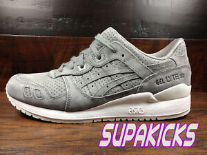 sports shoes 7d1bf 0997b Details about ASICS GEL-LYTE 3 III SUEDE (ALUMINUM) (HL7X2-9696) Classic  Running Mens
