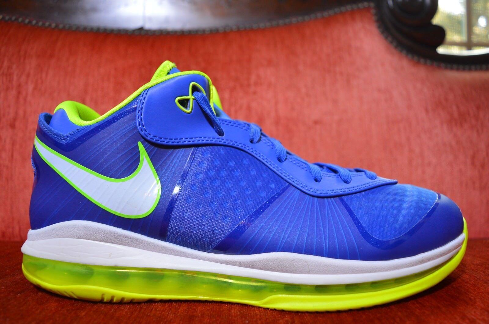 Nike Air Max LEBRON VIII 8 V/2 LOW SPRITE TREASURE BLUE WHITE BLACK VOLT 10.5
