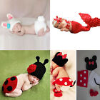 Baby Girls'Newborn Knit Crochet Mermaid Bunny Clothes Photo Prop Outfits