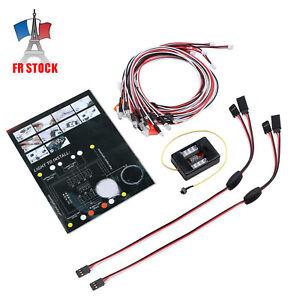 12 LED Clignotant Kit Système Phare Eclairage Pour 1-10 Rc Voiture Camion 62uM9Q1z-08133612-354193294