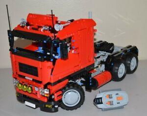 NEW-LEGO-TECHNIC-RED-8258-V10-MOC-CUSTOM-TRUCK-w-Power-Functions-8882-8883-8884
