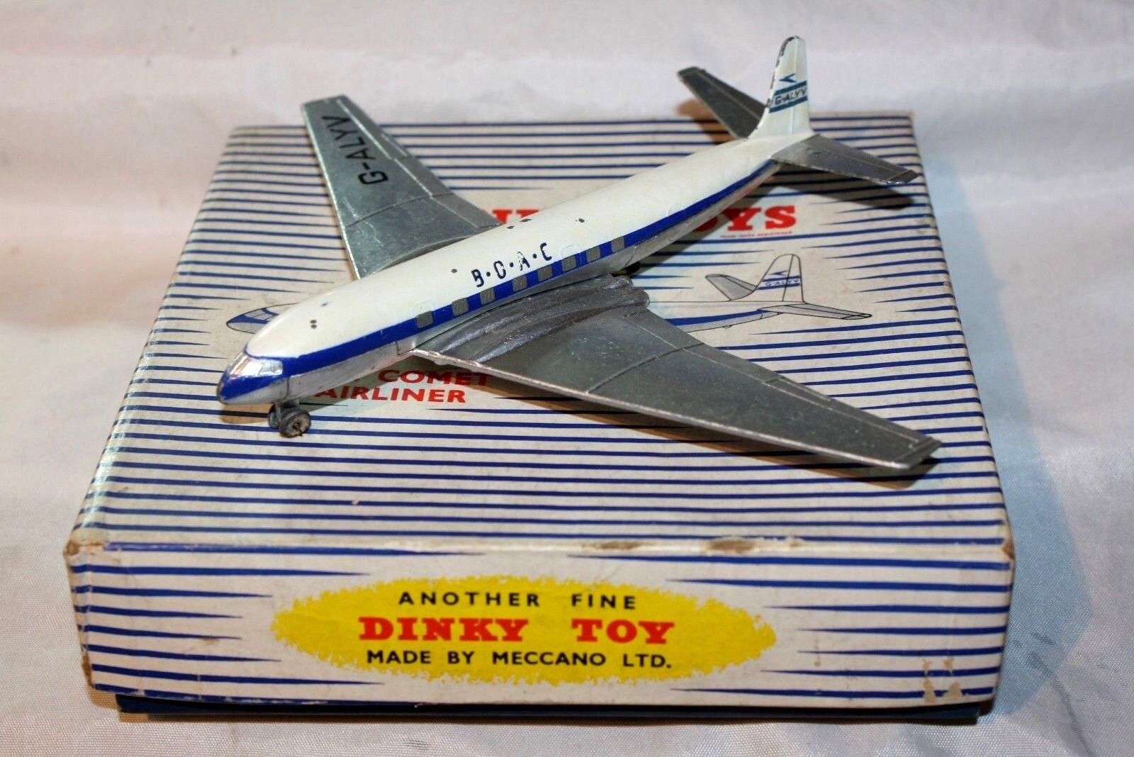 Dinky  702 D.H. COMET, BOAC livrée, bon état dans boîte d'origine