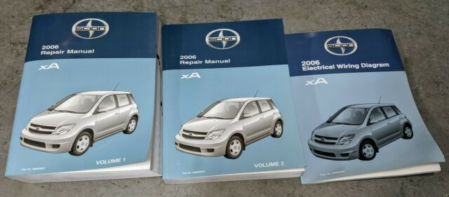 2008 Scion Xa Shop Service Repair Manuals Vol 1  U0026 2