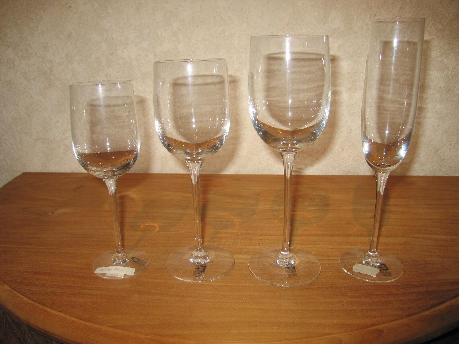 BOUSSU NEW CASINO Set 4 Verres Glasses