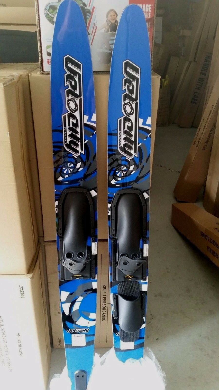 Water skis  adult combos doubles velocity CSS 67 inch + kneebrd