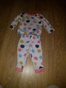 Baby Girls Muscade Blanc Pokkadot Pyjama... 0-3 Mois-afficher Le Titre D'origine Plus De Rabais Sur Les Surprises