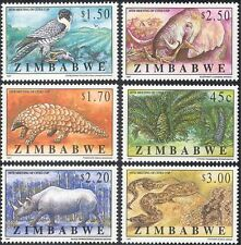 Zimbabwe 1997 Falcon/Rhino/Elephant/Cycad/Snake/Animals/Nature/Wildlife 6v b7973