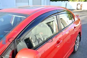 🚀MUGEN WINDOW VISORS FITS 2006 2007 2008 2009 2010 2011 HONDA CIVIC CSX 4DR