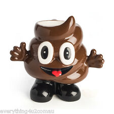 SMILING POO POOP EMOJI EMOTICON NOVELTY COFFEE TEA MUG CUP WITH LEGS