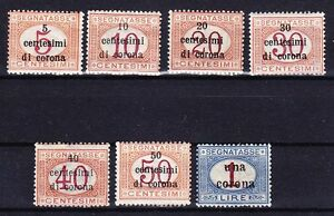 TRENTINO-1919-POSTAGE-DUE-SC-NJ8-NJ14-MINT-NEVER-HINGED