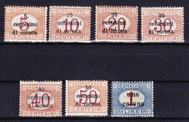 TRENTINO 1919 POSTAGE DUE SC# NJ8 - NJ14 MINT NEVER HINGED !!