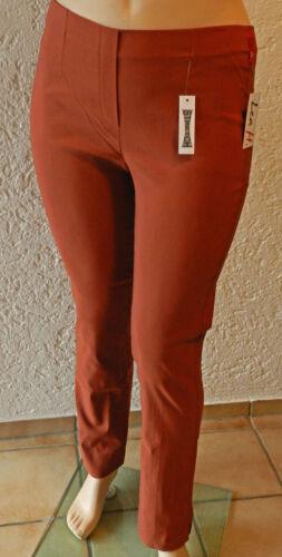 elegante Hose Komfortbund Lederbraun Braun Bella by Lea H Bengalinhose 2503