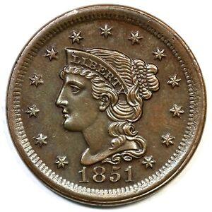 1851-N-30-R-2-Braided-Hair-Large-Cent-Coin-1c
