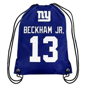 Odell Beckham Jr OBJ  13 New York Giants Jersey Drawstring Backpack ... 3f9ecc58f