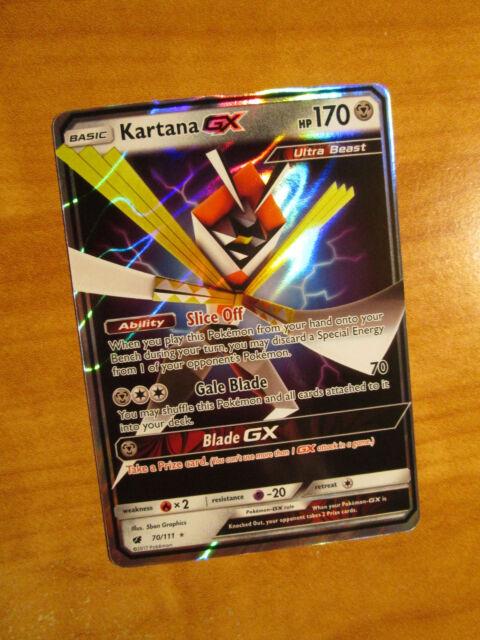 70//111 Ultra Rare NM Sun /& Moon Crimson Invasion Kartana GX