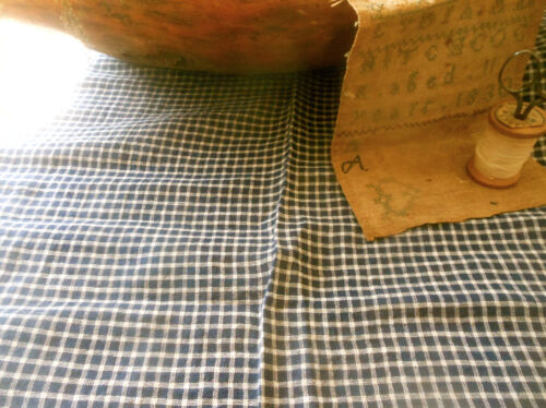 Antique 19thc Indigo Blue Homespun Cotton Fabric ~dolls quilts prim projects