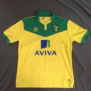 NORWICH CITY Football Shirt Canaries Errea XXL Jersey | eBay