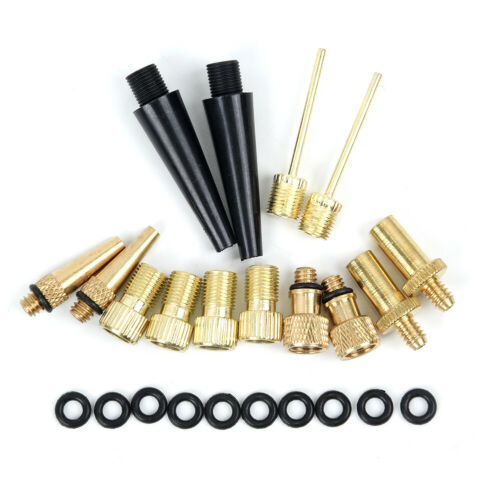 24pcs Valve Adapters Bike Tire Air Nozzles Inflator Connector Parts Accessory