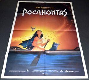 Pocahontas 1995 Original Nm 39x55 Italian 2 Sheet Movie Poster Disney Cartoon Ebay