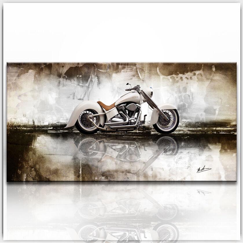 Oldtimer Moto Images Toile Abstrait la fresque art pression XXL 399 A